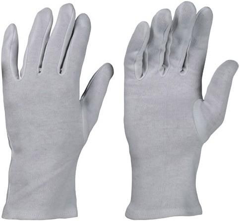Baumwoll-Trikot-Handschuhe gebleicht