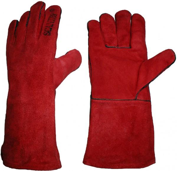 Schweißer-Handschuhe 5 Finger-RB (rostbraun)