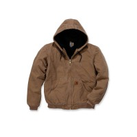CARHARTT Quilt Flannel Lined Sandstone Active Jacket / Jacke carhartt brown S