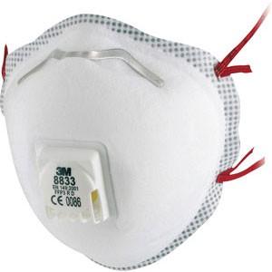 3M™ 8833 Atemschutzmaske FFP3 mit Ventil