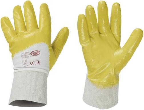 Gelbstar Nitril-Handschuhe gelb Strickbund