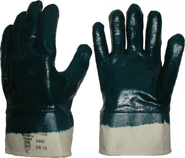 Nitril-Handschuhe blau Stulpe vollbeschichtet