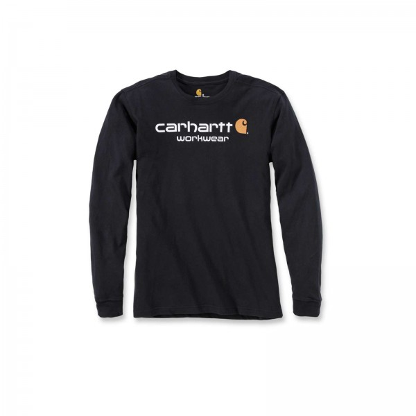 CARHARTT CORE LOGO LONG SLEEVE T-SHIRT ON MADDOCK