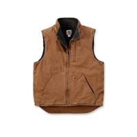 CARHARTT Mock Neck Vest / Weste carhartt brown S