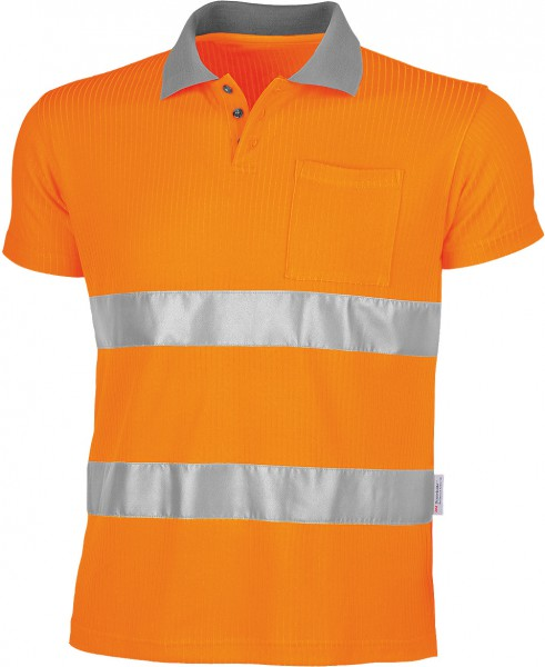 Polo-Shirt QUALITEX Signal Warnschutz